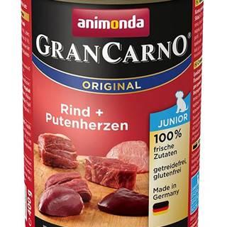 Animonda dog konzerva Gran Carno Junior hovädzie / morčacie srdcia - 400g