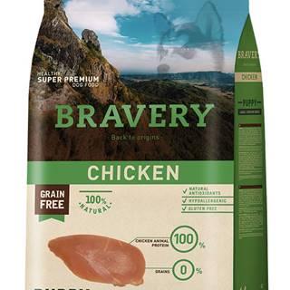 BRAVERY dog PUPPY large/medium CHICKEN - 400g