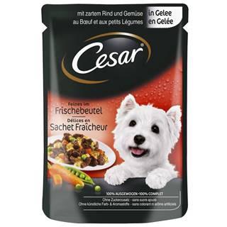 CESAR kapsa   100g - S hovädzím a zeleninou/želé