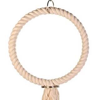 HRAČKA  vták Hojdačka závesný bavlnený kruh s uzlom - 25cm
