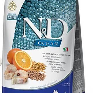 N&D dog LG OCEAN ADULT MINI CODFISH/ORANGE - 800g