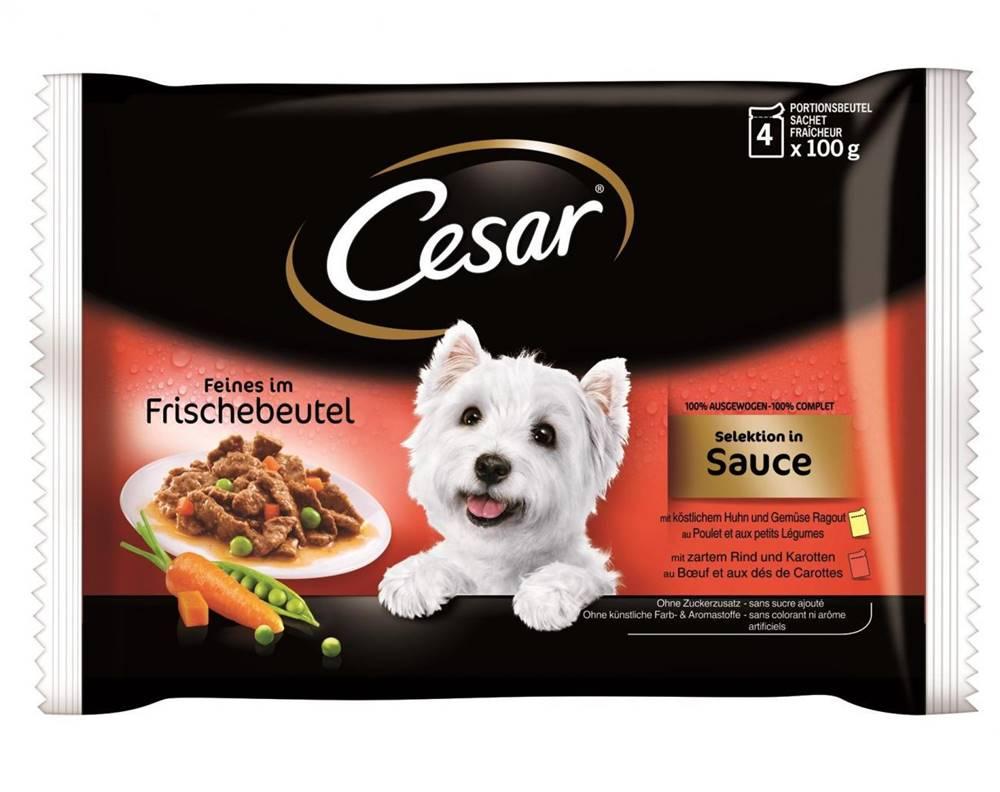 (bez zařazení) CESAR kapsa 4 x 100g KURACIE / HOVÄDZIE - v sosu