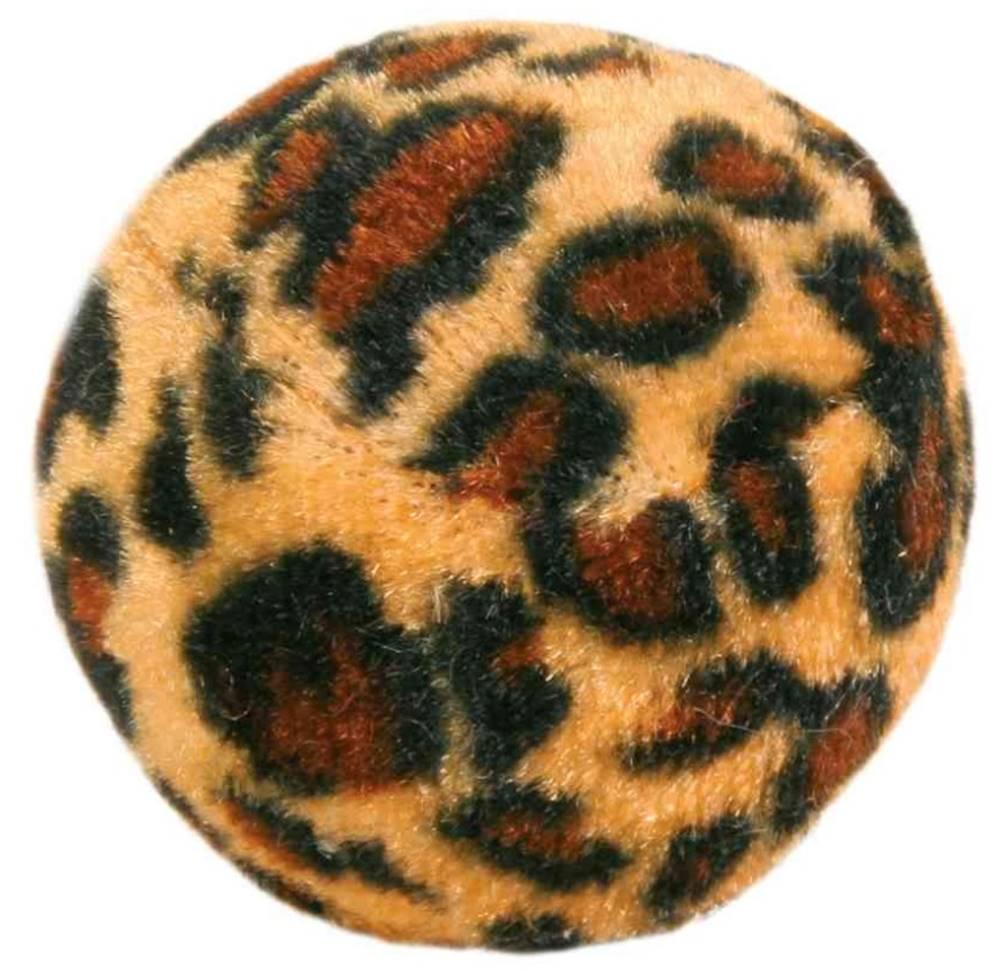 Trixie HRAČKA loptičky s leopardím motívom - 4ks/4cm