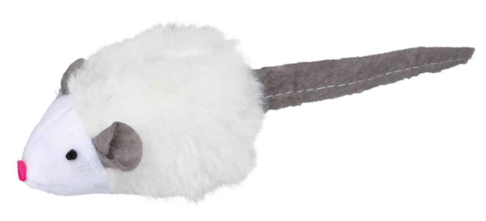 Trixie HRAČKA mikročipová myš so zvukom - 6cm