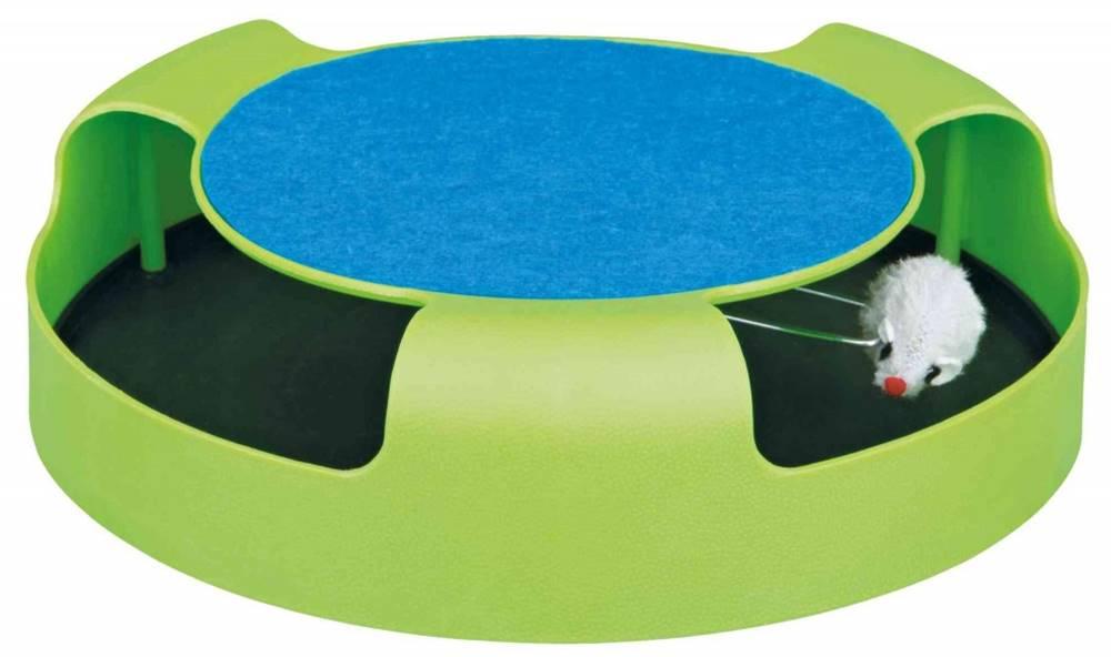 Trixie HRAČKA myš v kruhu so škrabacím kobercom - 25x6cm