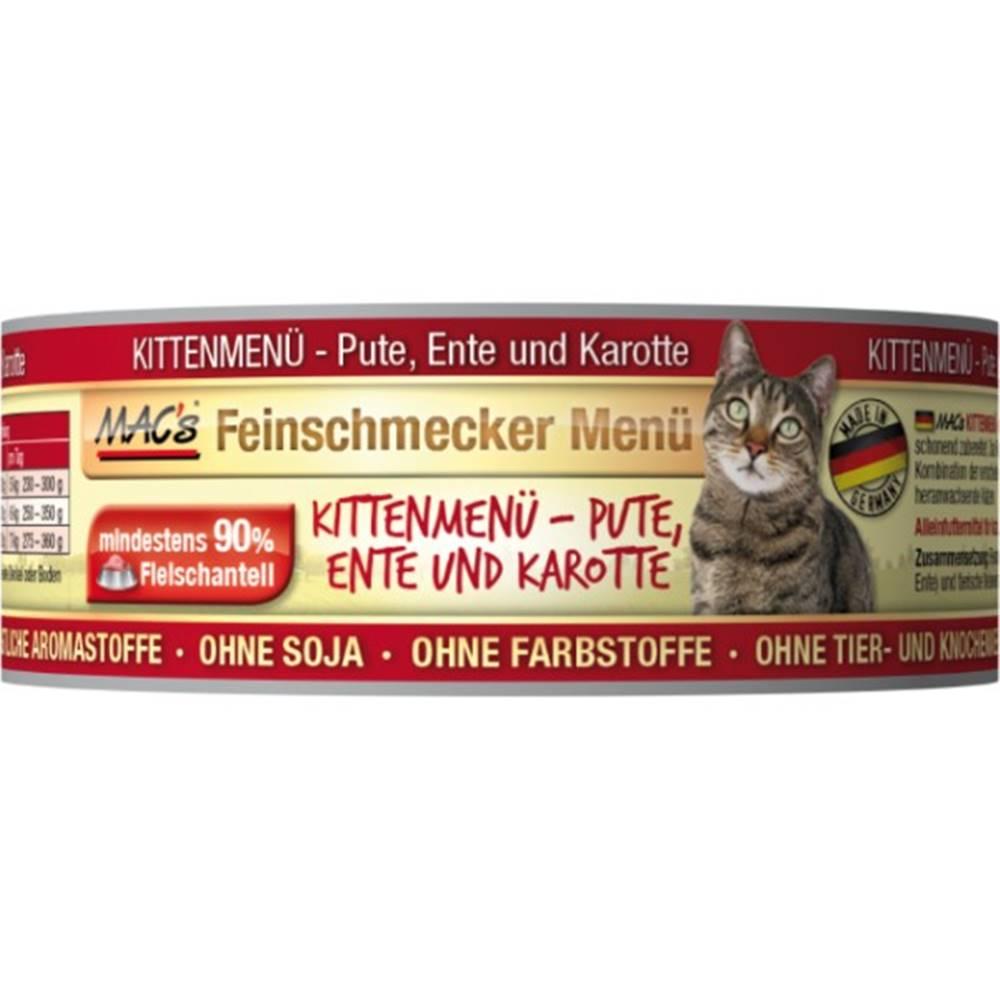 (bez zařazení) MACs  cat  konz. feinschmecker KITTEN ENTE/karotte - 100g