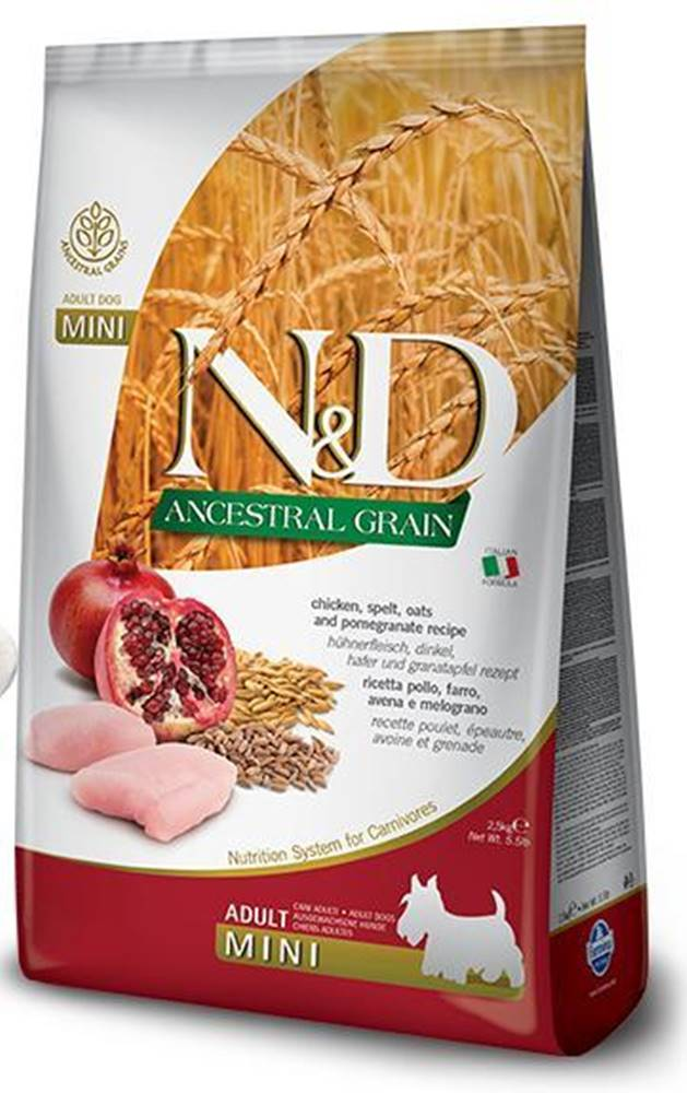 Natural&Delicious N&D dog LG ADULT MINI CHICKEN/POMEGRANATE - 800g