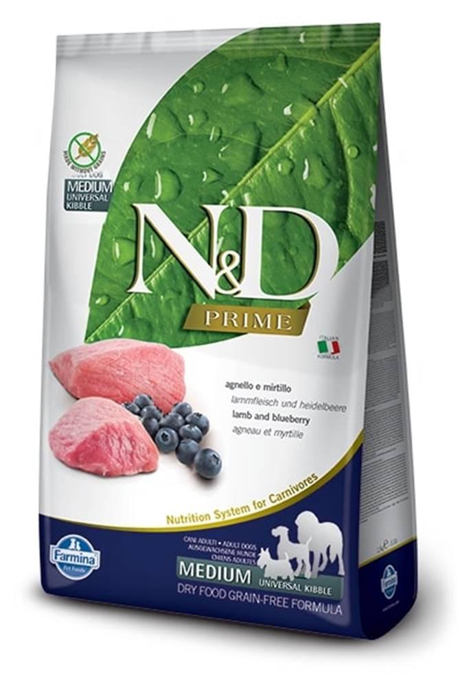 Natural&Delicious N&D dog PRIME ADULT MEDIUM/LARGE lamb/blueberry - 2,5kg