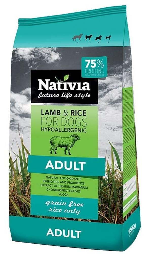 (bez zařazení) NATIVIA dog  ADULT lamb - 3kg