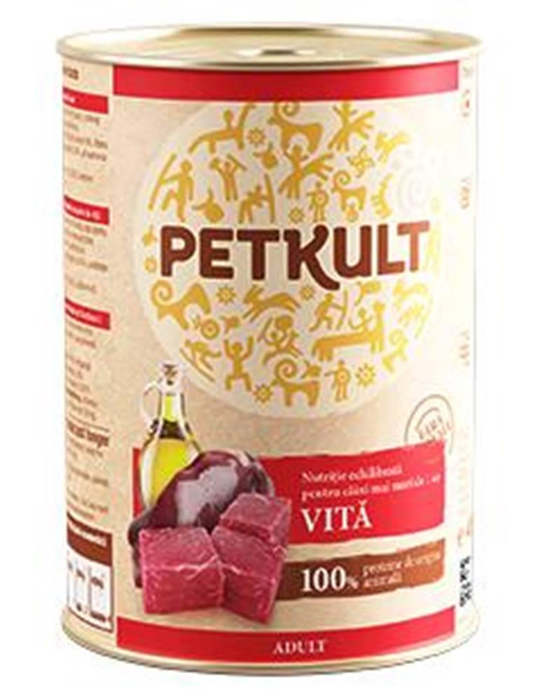 Petkult PETKULT   dog konz. ADULT 400g - Hovädzie