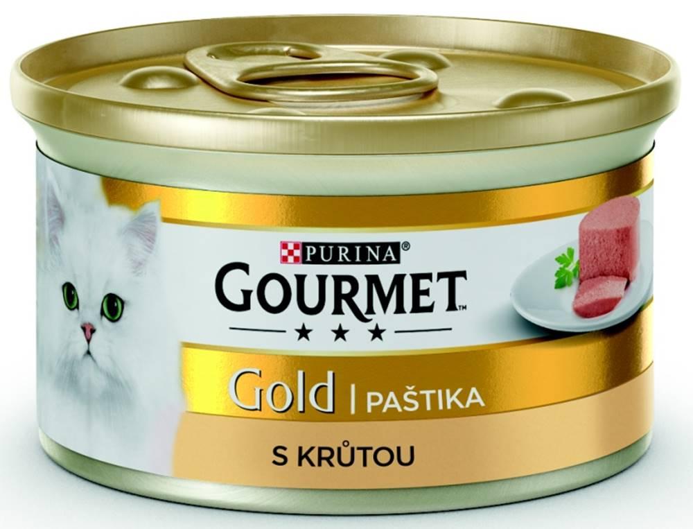 Gourme gold PURINA GG jemná paštika KRŮTA konzerva  - 85g