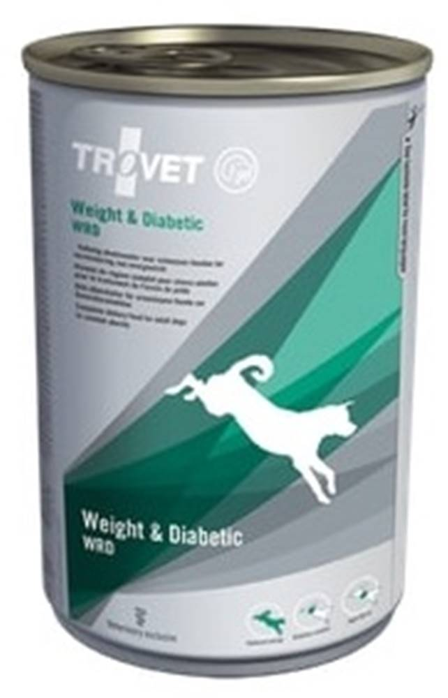 Trovet Trovet dog (diéta) Weight a Diabetic WRD konzerva - 400g