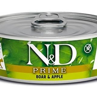 N&D cat  konz. PRIME BOAR/APPLE - 12 x 80g
