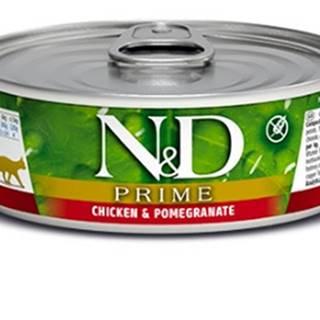 N&D cat  konz. PRIME chicken/POMEGRANATE - 12 x 80g