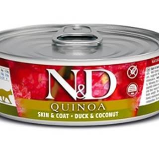N&D cat  konz. QUINOA duck/COCONUT - 12 x 80g