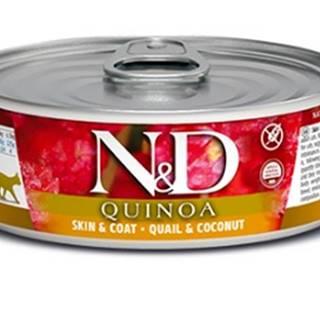 N&D cat  konz.  QUINOA guail/COCONUT - 12 x 80g