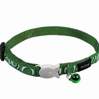 Obojok RD cat CIRCADELIC green - 1,2/20-32cm