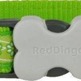 Obojok RD DAISY chain LIME green - 1,2cm/20-32cm