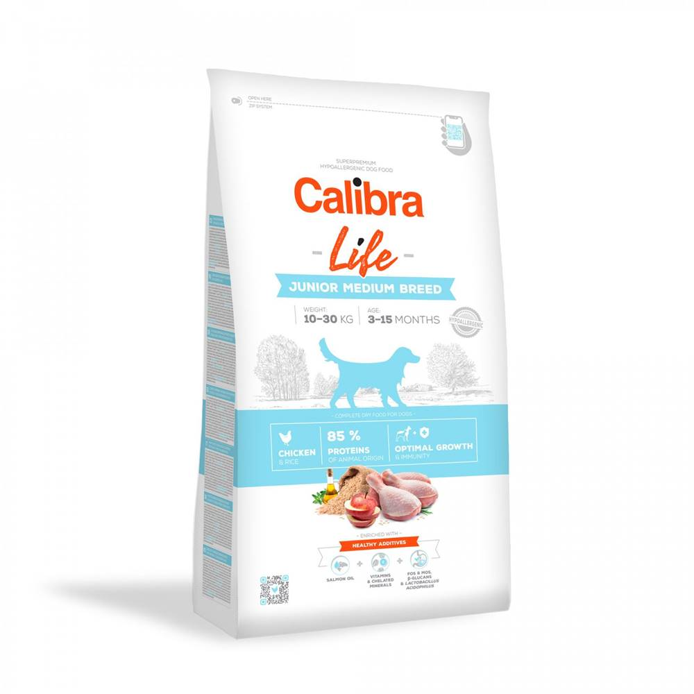 Calibra CALIBRA dog LIFE JUNIOR medium CHICKEN - 2,5kg