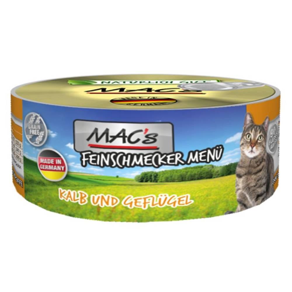 (bez zařazení) MACs  cat  konz. feinschmecker KALB/GEFLUGEL - 100g