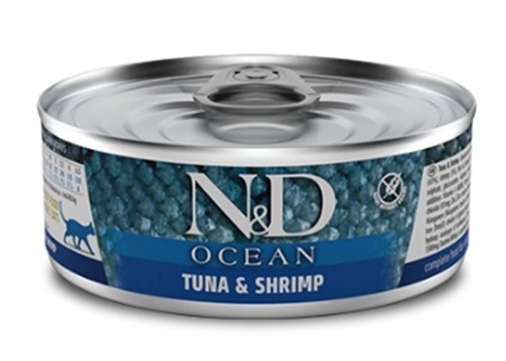 Natural&Delicious N&D cat  konz. OCEAN tuna/SHRIMP - 12 x 80g