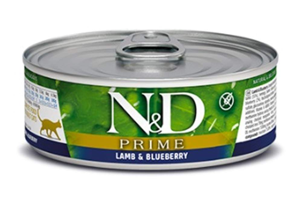 Natural&Delicious N&D cat  konz. PRIME lamb/BLUEBERRY - 12 x 80g