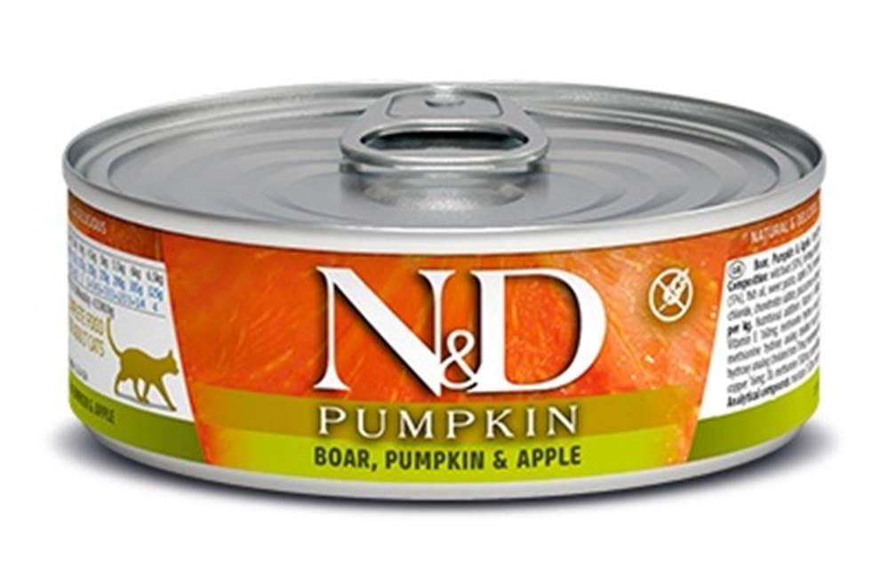 Natural&Delicious N&D cat  konz. PUMPKIN boar/APPLE - 12 x 80g