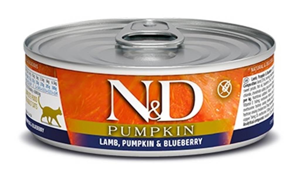Natural&Delicious N&D cat  konz. PUMPKIN lamb/BLUEBERRY - 12 x 80g