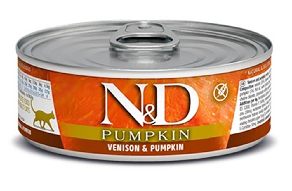 Natural&Delicious N&D cat  konz.  PUMPKIN/VENISON - 12 x 80g
