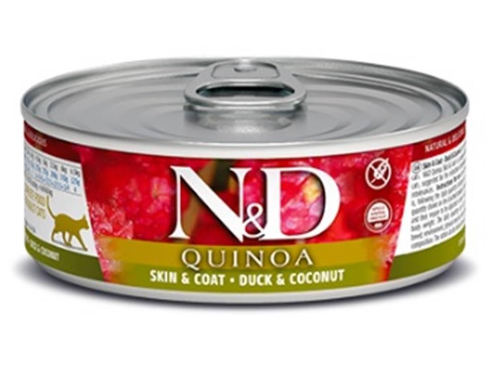 Natural&Delicious N&D cat  konz. QUINOA duck/COCONUT - 12 x 80g