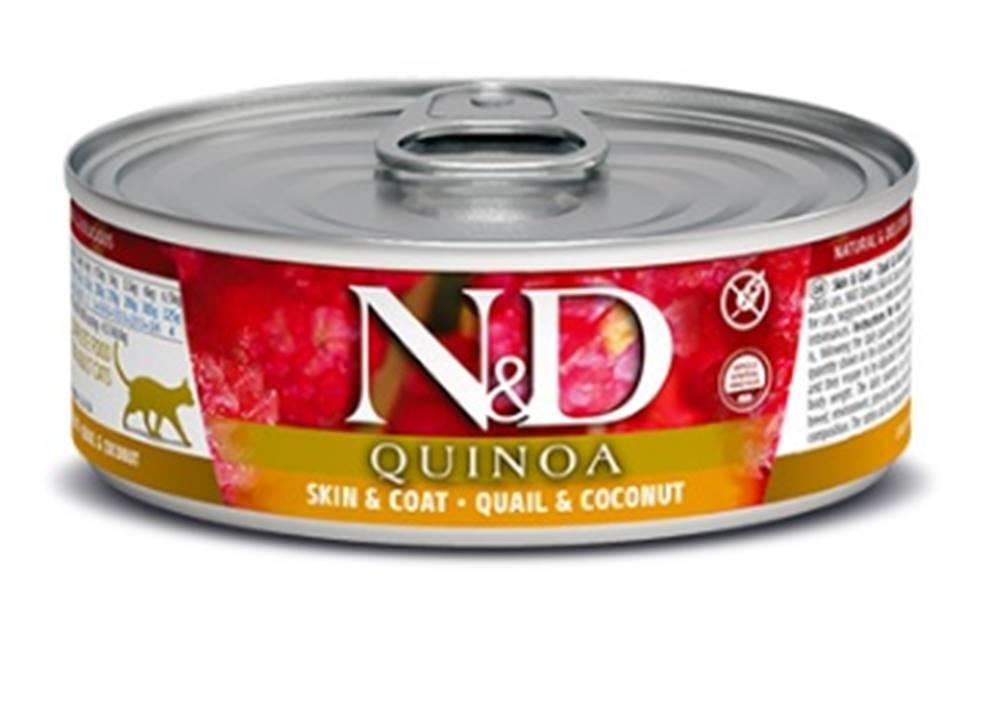 Natural&Delicious N&D cat  konz.  QUINOA guail/COCONUT - 12 x 80g