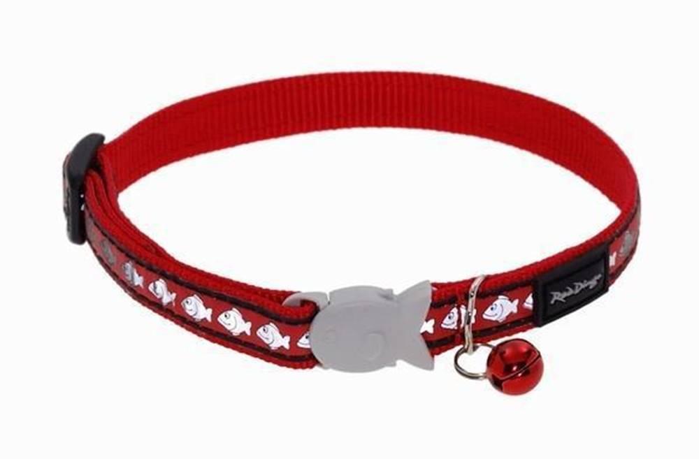 Red-dingo Obojok RD  cat Reflective 1,2/20-30cm - RED
