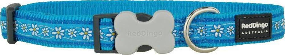 Red-dingo Obojok RD DAISY chain TURQUOISE - 1,2/20-32cm