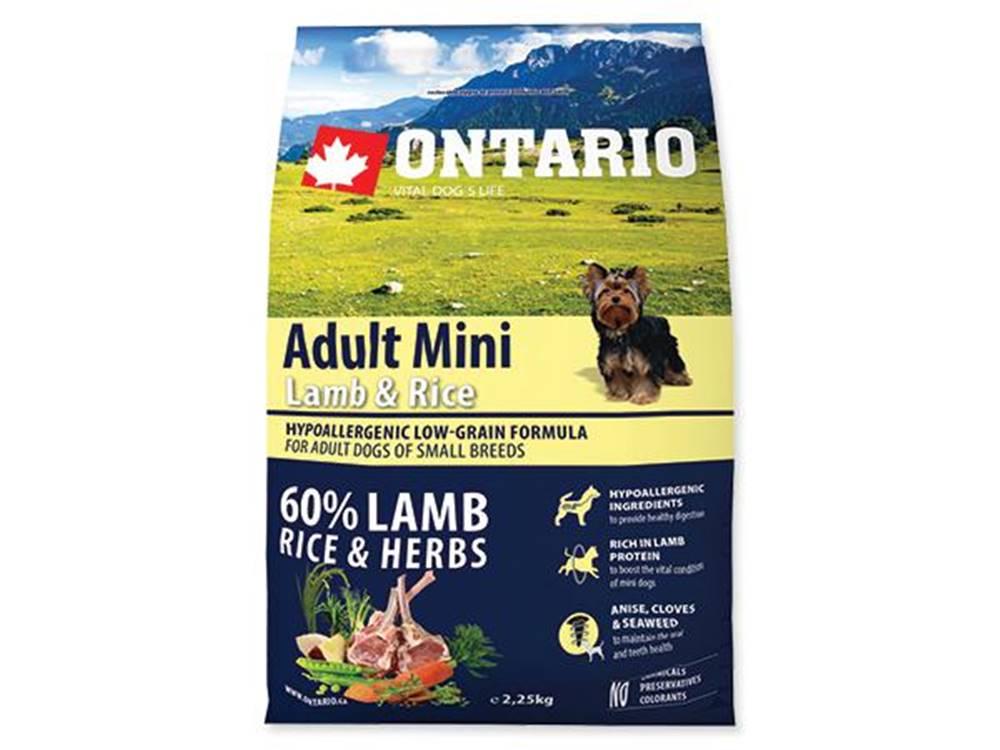 Ontario ONTARIO dog ADULT MINI lamb - 2,25kg