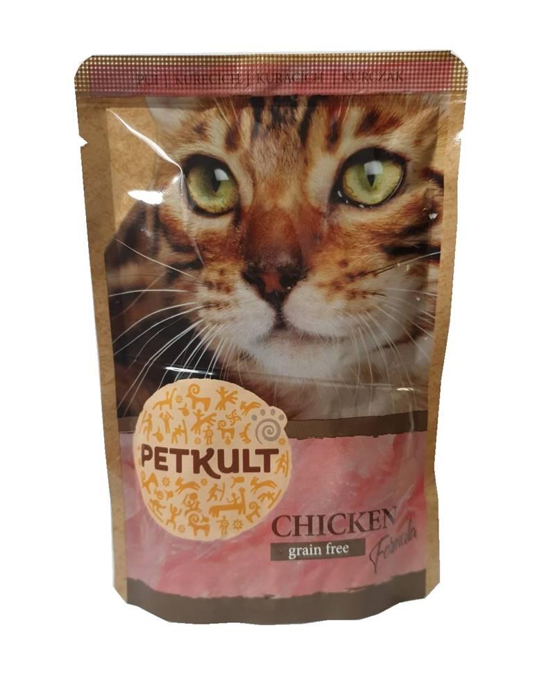 (bez zařazení) PETKULT cat kapsa  KURACIE - 100g