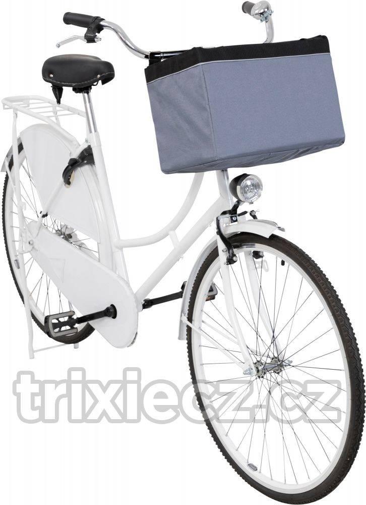 Trixie Prepravné FRONT-BOX na KOLO šedá - 38x25x25cm/6kg