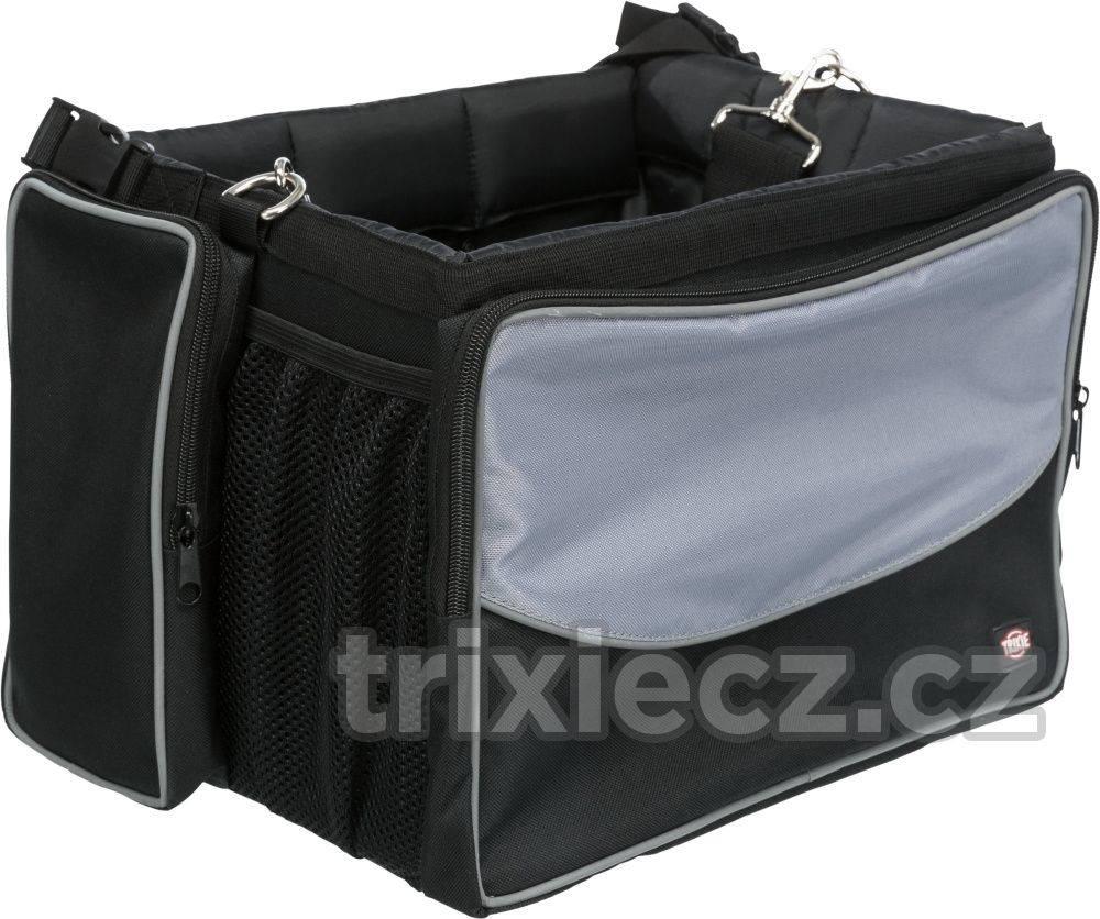 Trixie Prepravné FRONT-BOX na KOLO sivá - 41x26x26cm/7kg