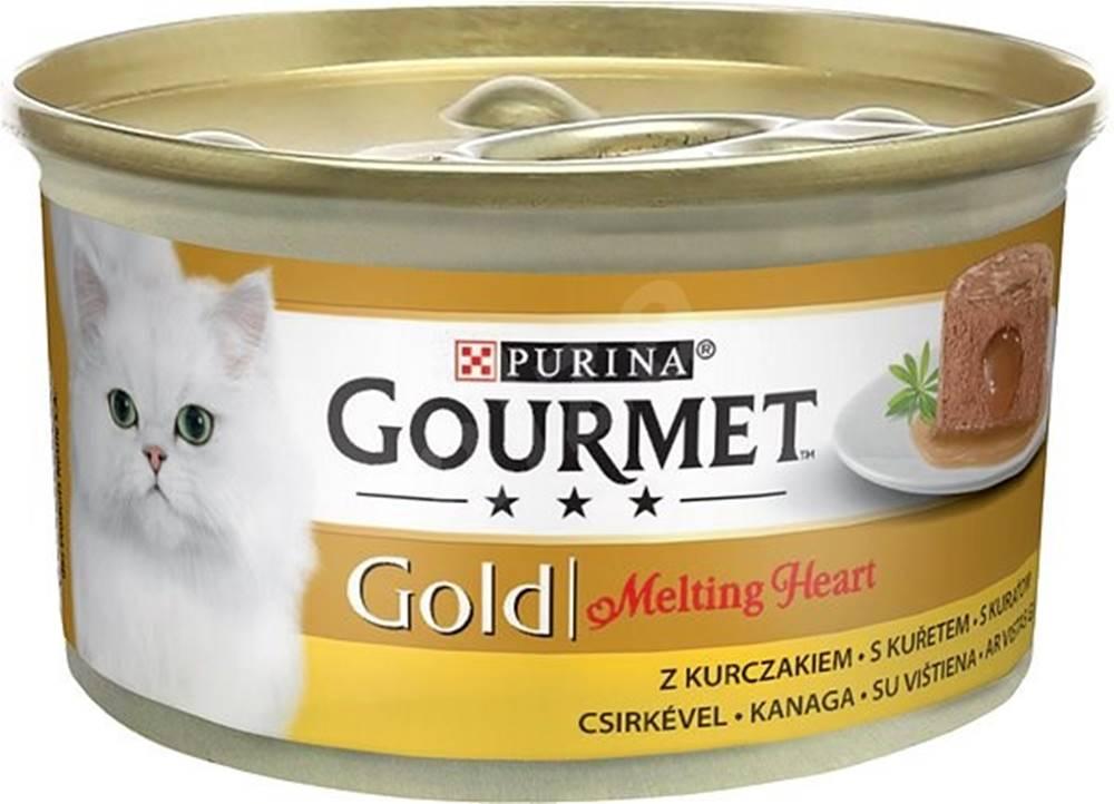 Gourme gold PURINA GG melting heart 85g - s kuraťom