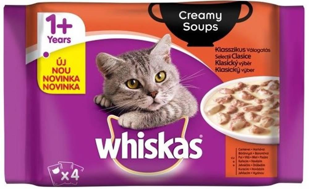 Whiskas WHISKAS kapsa CREAMY SOUPS - 4x100 g
