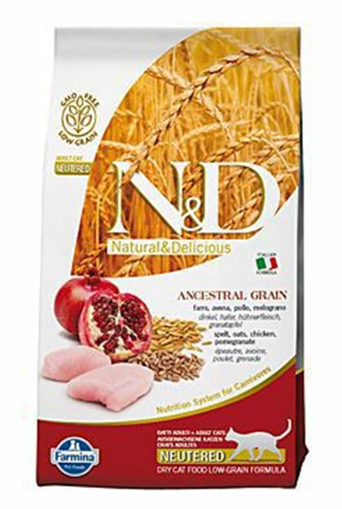 N&D N&D Low Grain CAT Neutered Chicken & Pomegranate 1,5kg
