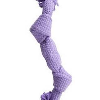Hračka pes BUSTER Pískací lano, fialová, 35 cm, M