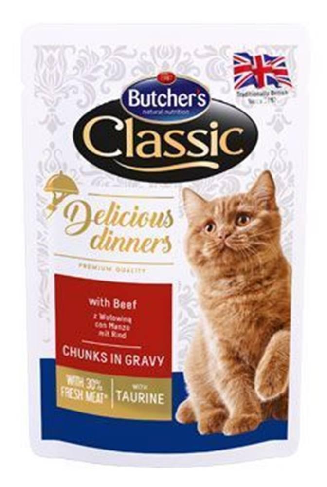 Butcher's Butcher 's Cat Class.Delic.Dinn. hovädzie kapsa 100g