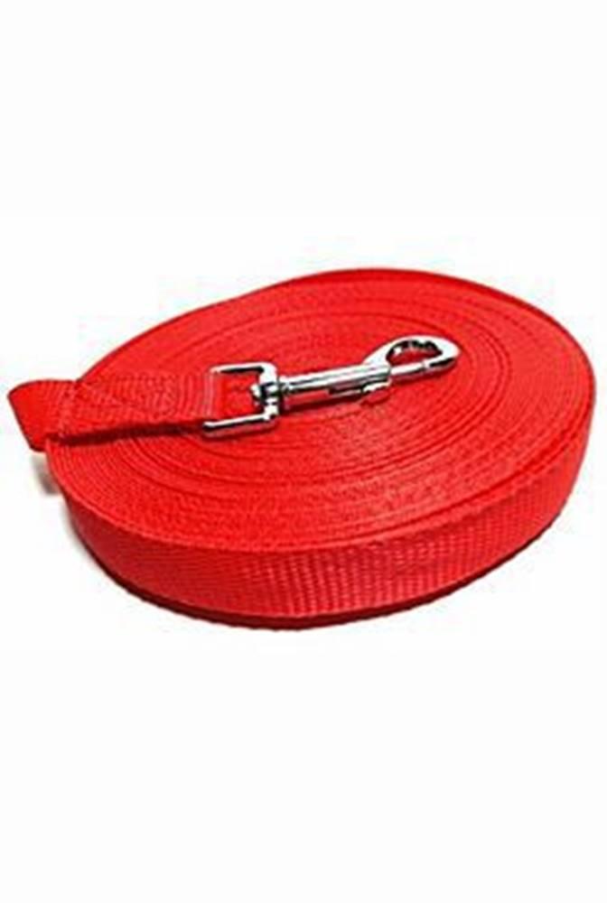DINOFASHION Vodítko DINOFASHION stopovací ploché červené 20m/2cm