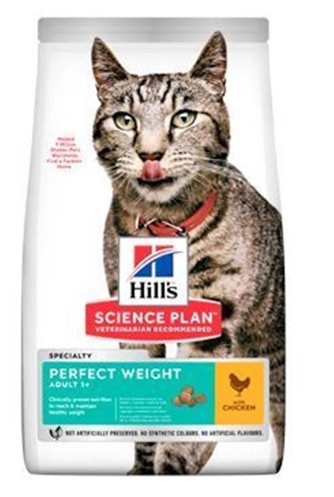 Hill's Hill's Fel. Dry Adult Perfect Weight Chicken 1,5kg