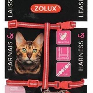 Postroj mačka s vodítkom 1,2m červený Zolux