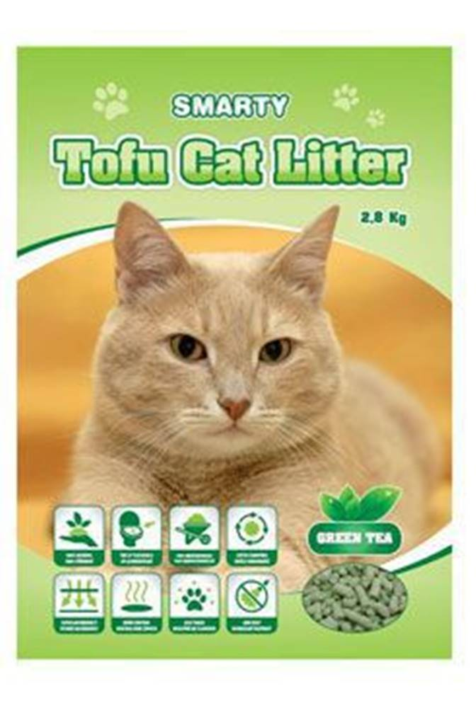 Ostatní Podestýlka Smarty Tofu Cat Litter-Green Tea 6l