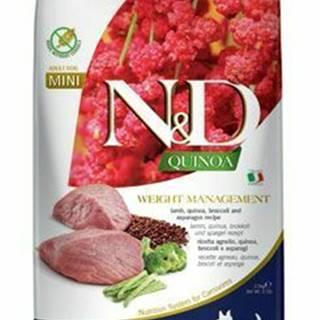 N&D Quinoa DOG Weight Mnmgnt Lamb &Broccoli Mini 2,5kg