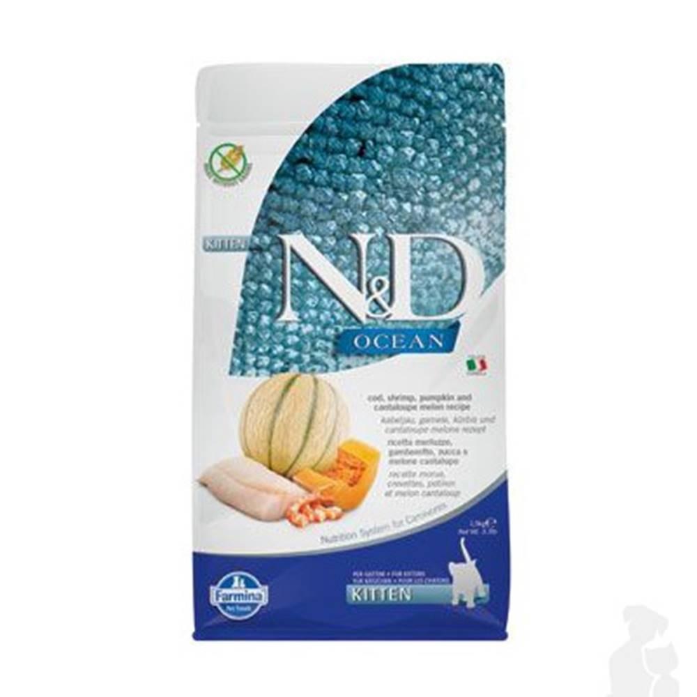 N&D (Farmina Pet Foods) N&D OCEAN CAT Kitten Cod & Shrimp&Pumpkin&Melon 1,5kg