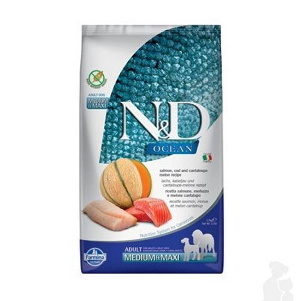N&D (Farmina Pet Foods) N&D OCEAN DOG Adult M/L Salmon & Cod & Melon 2,5kg