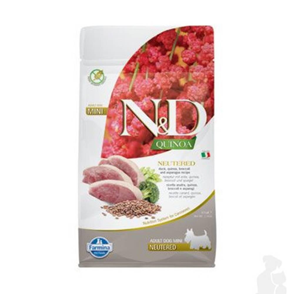 N&D (Farmina Pet Foods) N&D Quinoa DOG Neutered Mini Duck&Broccoli&Asp. 800g